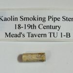 Kaolin smoking pipe stem 1